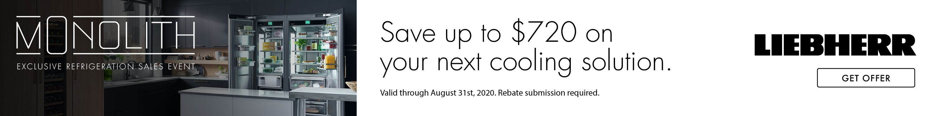 Liebherr - Save up to $720 on your next cooling solution.